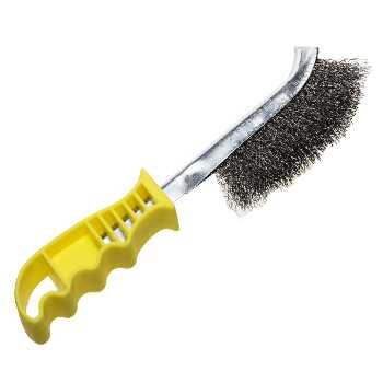 Щетка проволочная стальная с пастмассовой ручкой однорядная витая STAYER, 3509